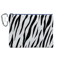 Skin3 Black Marble & White Leather Canvas Cosmetic Bag (xl)