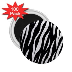 Skin3 Black Marble & White Leather (r) 2 25  Magnets (100 Pack)