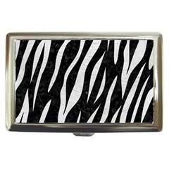 Skin3 Black Marble & White Leather (r) Cigarette Money Cases