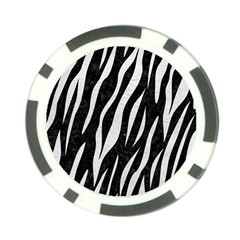 Skin3 Black Marble & White Leather (r) Poker Chip Card Guard