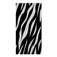 Skin3 Black Marble & White Leather (r) Shower Curtain 36  X 72  (stall)