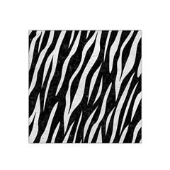 Skin3 Black Marble & White Leather (r) Satin Bandana Scarf