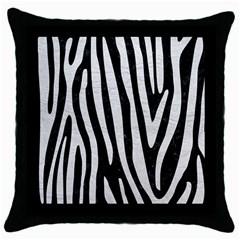 Skin4 Black Marble & White Leather Throw Pillow Case (black)