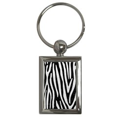 Skin4 Black Marble & White Leather Key Chains (rectangle)