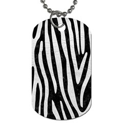 Skin4 Black Marble & White Leather Dog Tag (two Sides)