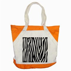 Skin4 Black Marble & White Leather Accent Tote Bag