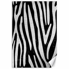 Skin4 Black Marble & White Leather Canvas 24  X 36