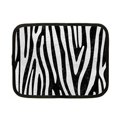 Skin4 Black Marble & White Leather Netbook Case (small)