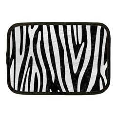 Skin4 Black Marble & White Leather Netbook Case (medium)