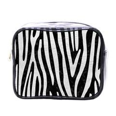 Skin4 Black Marble & White Leather Mini Toiletries Bags