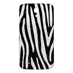 Skin4 Black Marble & White Leather Samsung Galaxy Mega I9200 Hardshell Back Case