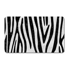 Skin4 Black Marble & White Leather (r) Magnet (rectangular)