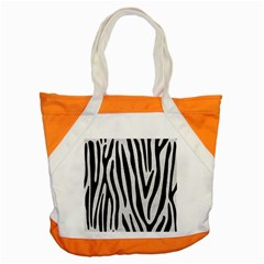 Skin4 Black Marble & White Leather (r) Accent Tote Bag