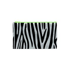 Skin4 Black Marble & White Leather (r) Cosmetic Bag (xs)