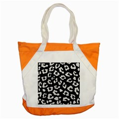 Skin5 Black Marble & White Leather Accent Tote Bag