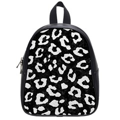 Skin5 Black Marble & White Leather School Bag (small)