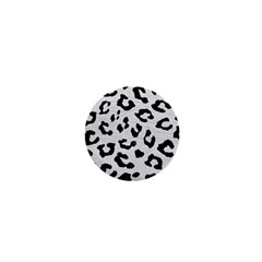 Skin5 Black Marble & White Leather (r) 1  Mini Buttons