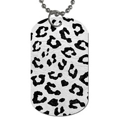 Skin5 Black Marble & White Leather (r) Dog Tag (two Sides)