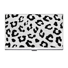 Skin5 Black Marble & White Leather (r) Business Card Holders