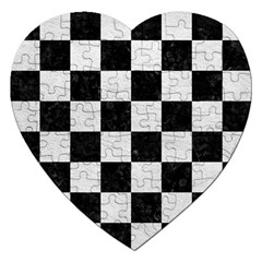 Square1 Black Marble & White Leather Jigsaw Puzzle (heart)