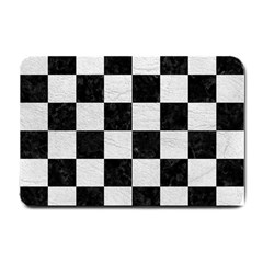 Square1 Black Marble & White Leather Small Doormat