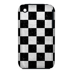 Square1 Black Marble & White Leather Iphone 3s/3gs