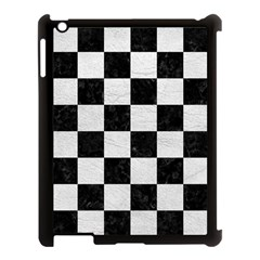 Square1 Black Marble & White Leather Apple Ipad 3/4 Case (black)