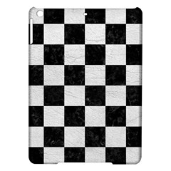 Square1 Black Marble & White Leather Ipad Air Hardshell Cases