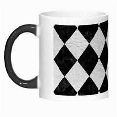 Square2 Black Marble & White Leather Morph Mugs