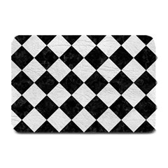 Square2 Black Marble & White Leather Plate Mats
