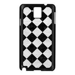 Square2 Black Marble & White Leather Samsung Galaxy Note 3 N9005 Case (black)