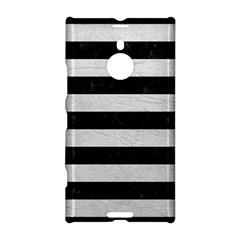 Stripes2 Black Marble & White Leather Nokia Lumia 1520