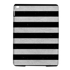 Stripes2 Black Marble & White Leather Ipad Air 2 Hardshell Cases
