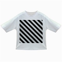 Stripes3 Black Marble & White Leather Infant/toddler T Shirts