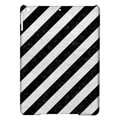 Stripes3 Black Marble & White Leather (r) Ipad Air Hardshell Cases