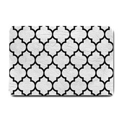 Tile1 Black Marble & White Leather Small Doormat