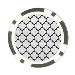 Tile1 Black Marble & White Leather Poker Chip Card Guard