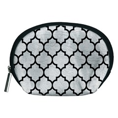 Tile1 Black Marble & White Leather Accessory Pouches (medium)