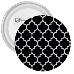 Tile1 Black Marble & White Leather (r) 3  Buttons