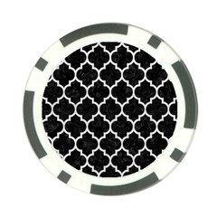 Tile1 Black Marble & White Leather (r) Poker Chip Card Guard