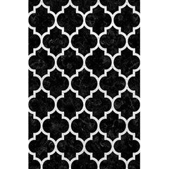 Tile1 Black Marble & White Leather (r) 5 5  X 8 5  Notebooks