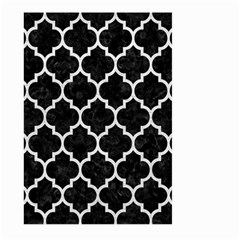 Tile1 Black Marble & White Leather (r) Large Garden Flag (two Sides)