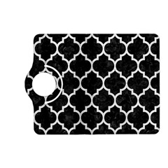Tile1 Black Marble & White Leather (r) Kindle Fire Hd (2013) Flip 360 Case