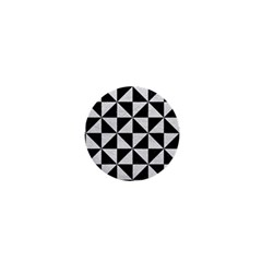 Triangle1 Black Marble & White Leather 1  Mini Buttons