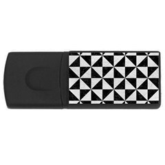 Triangle1 Black Marble & White Leather Rectangular Usb Flash Drive