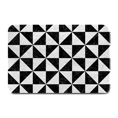 Triangle1 Black Marble & White Leather Plate Mats