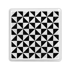 Triangle1 Black Marble & White Leather Memory Card Reader (square)