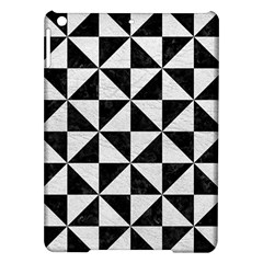 Triangle1 Black Marble & White Leather Ipad Air Hardshell Cases