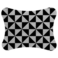 Triangle1 Black Marble & White Leather Jigsaw Puzzle Photo Stand (bow)