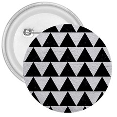 Triangle2 Black Marble & White Leather 3  Buttons